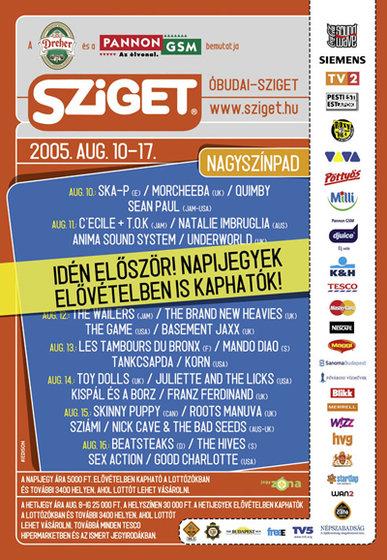 Sziget Programfüzet 2009