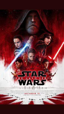 Luke gonosz figuraként az Utolsó Jedik egy poszterén.