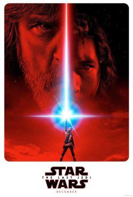 Az Utolsó Jedik egy poszterén Rey az Erő két oldalának határán áll.